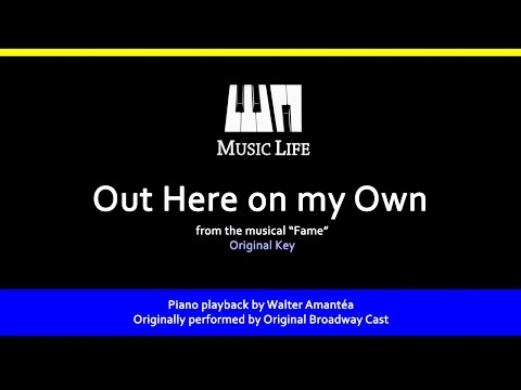 Out Here On My Own (Fame) - Piano Playback For Cover / Karaoke