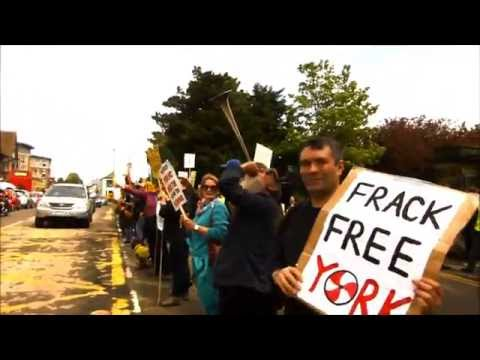 Anti frackers 'Get In The Groove' at roadside demo NORTHALLERTON County Hall