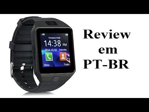 Review Smartwatch DZ09 em pt-br