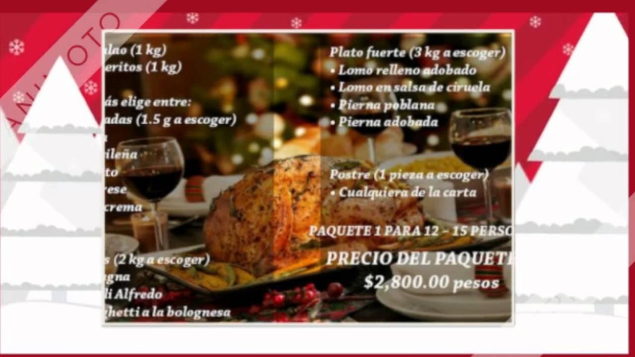 cena navidea df y edo mx checa el menu en la web
