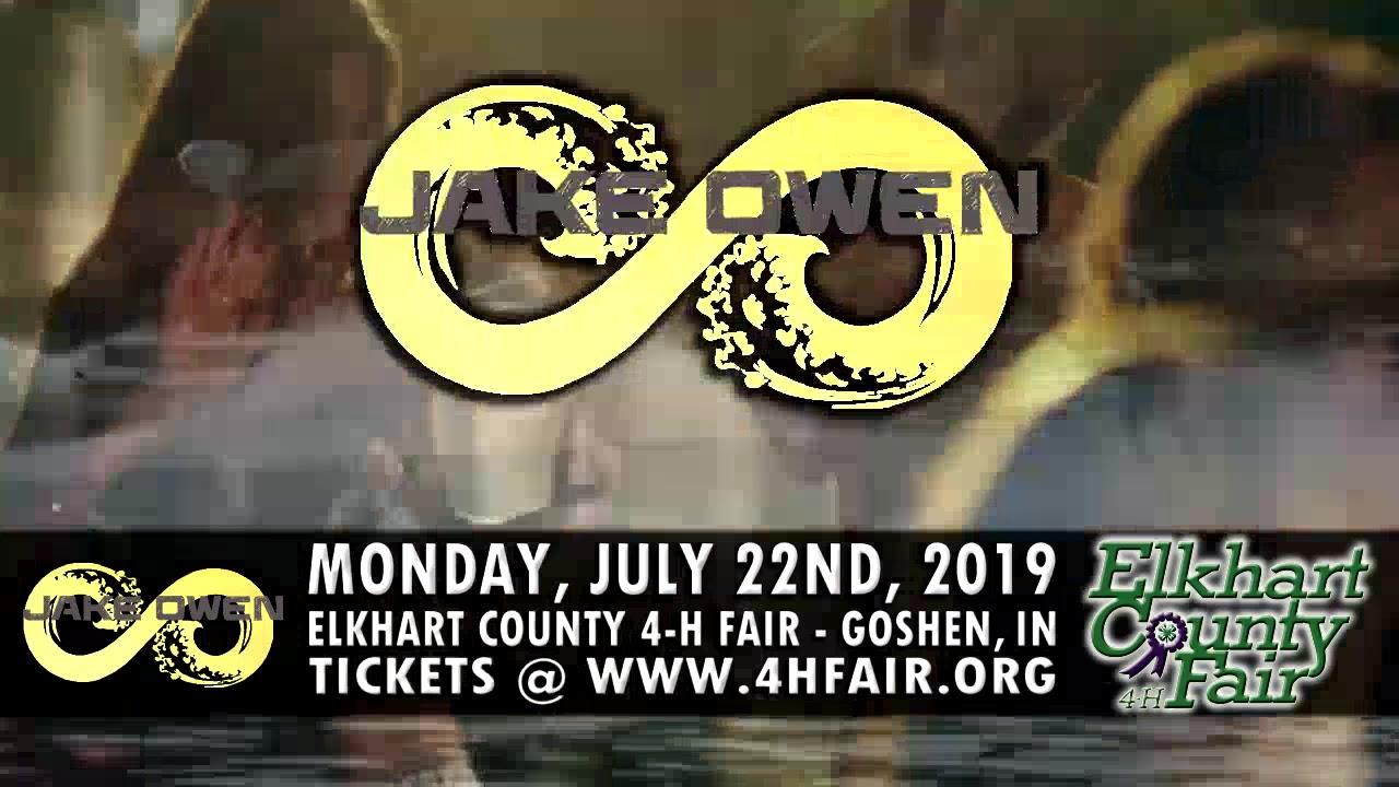 JAKE OWEN - Goshen, Indiana - July 22, 2019