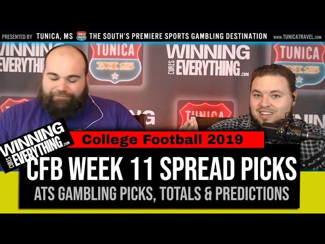WCE: College Football Against the Spread Picks Week 11 (Gambling Picks)