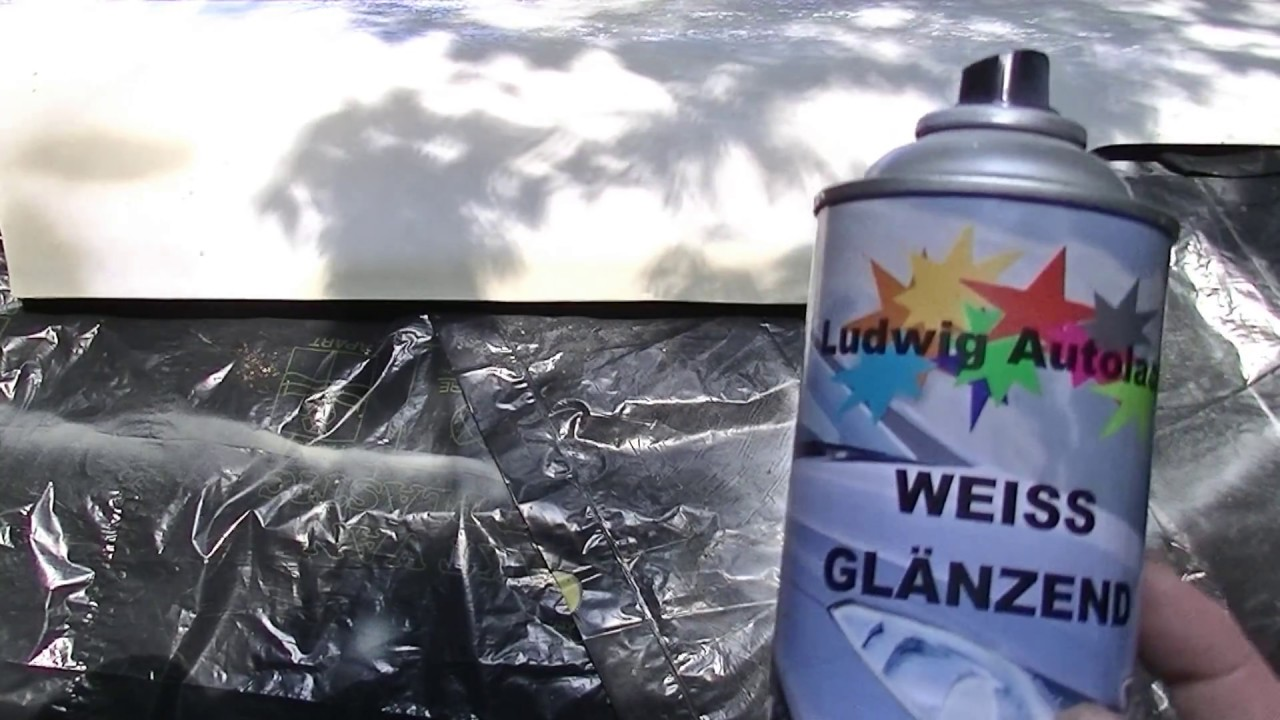 1a Hack And Pack The Car Hood Amateur Spray Can Paint Job Done Outside