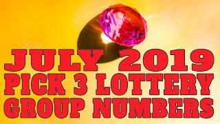Winning Pick 3 Lottery Group Numbers For July 2019
