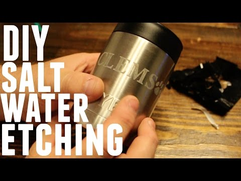 DIY - HOW TO METAL ETCH AT HOME YETI REC PRO OZARK TRAIL