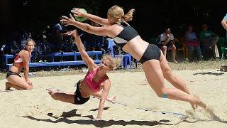 Предложение руки и серда на финале ЧР по пляжному гандболу среди женщин. Ставрополь 2015