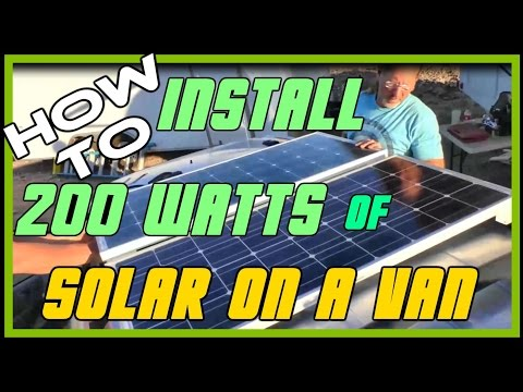 Installing Solar Panels on a Van | Solar Powered Phone Charger
