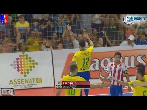 Melhores Momentos Brasil 8 x 2 Paraguai Amistoso Internacional de Futsal 2018 (25/01/2018)