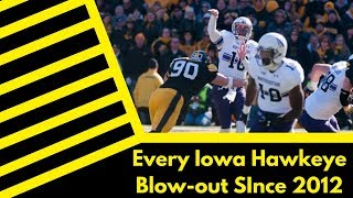 Every Iowa Hawkeye Blowout Since 2012