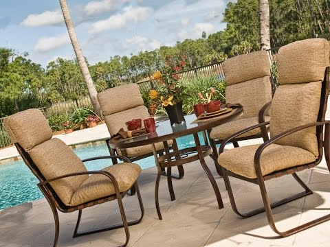 Exterior. The Cozy High Back Patio Chair Cushions