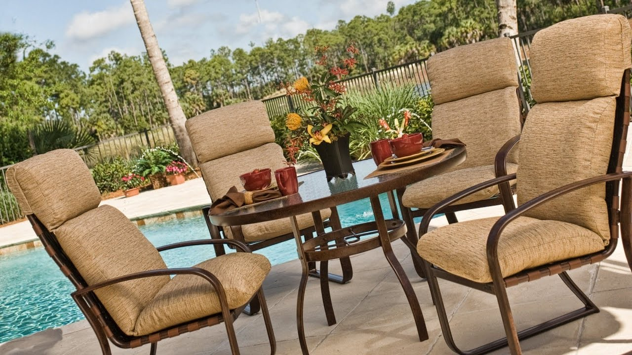 High Back Patio Furniture: Exterior. The Cozy High Back Patio Chair Cushions