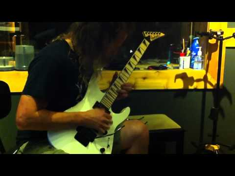 Tony V from SHOCK - recording lead guitars