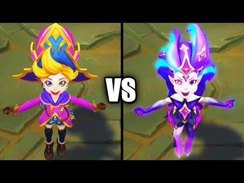 Arcanist Zoe vs Star Guardian Zoe Epic Skins Comparison (League of Legends)