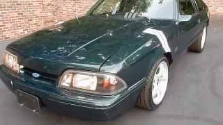 1991 Ford Mustang GT in green for sale Old Town Automobile in Maryland