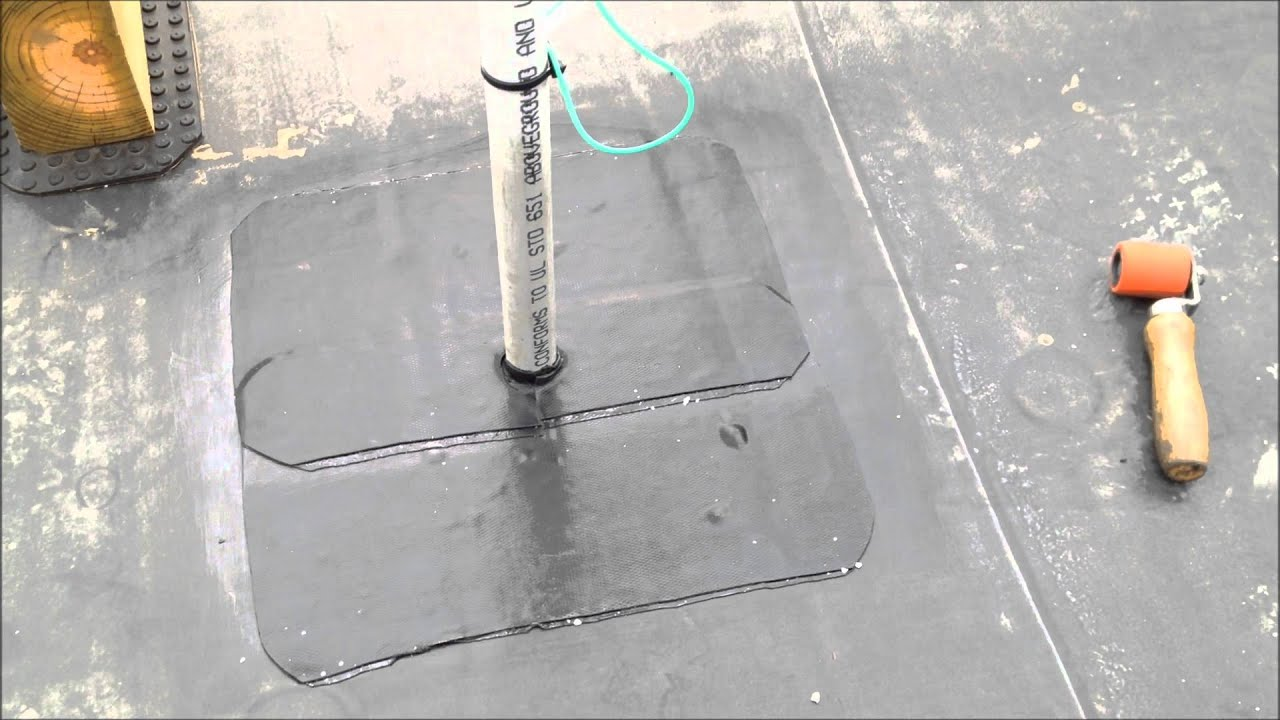 How To Flash Around Pvc Pipe On Epdm Roof Youtube