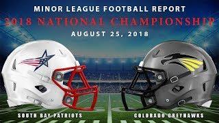 Minor League Football Report 2018 National Championship