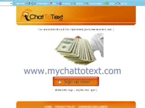 ChatToText, Easy money to make, Chat to text review, not a scam, CHATTOTEXT!