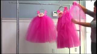 How to Make Ella Tutu Flower Girl Dress Fluffy for Birthday Costumes and Princess Fairy Dress Up