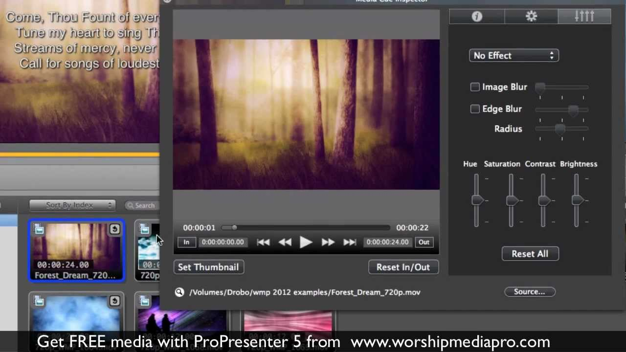 Make your own motion backgrounds in ProPresenter 5