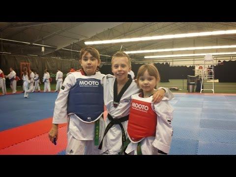 Winter Taekwondo Camp Finland 18-19.1.2014 Eddie & Sara Quiñones with Frederik Emil Olsen