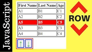 JavaScript - How To Move HTML Table Selected Row Up And Down In Javascript [ with Source code ]