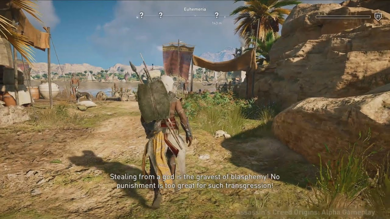 Assassins Creed Origins 30 Minute New Gameplay Demo Xbox One X
