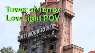 Tower of Terror On Ride Low Light POV Hollywood Studios Walt Disney World