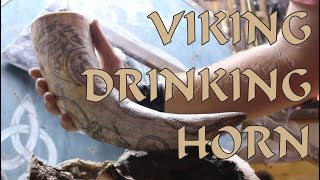 Hand Made Viking Drinking Horn