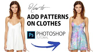 How to   ADD PATTERNS ON CLOTHES   Photoshop Tutorial