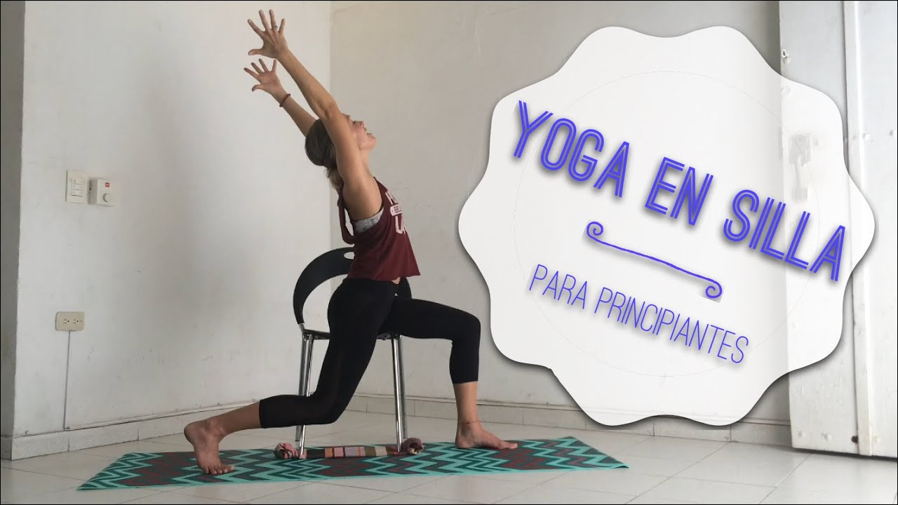 Yoga en silla yoga suave para principiantes y persona for Sillas plegables para yoga