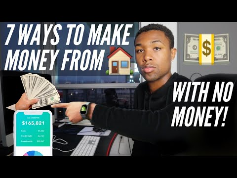 Video: Best Ways To Make Money From Home With ZERO Money In 2021 (Fast Methods)