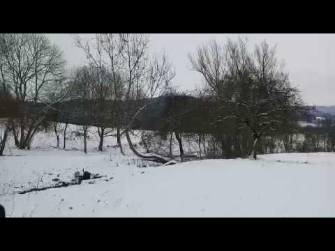 Snowfall in Stuttgart Germany : Winter 2017