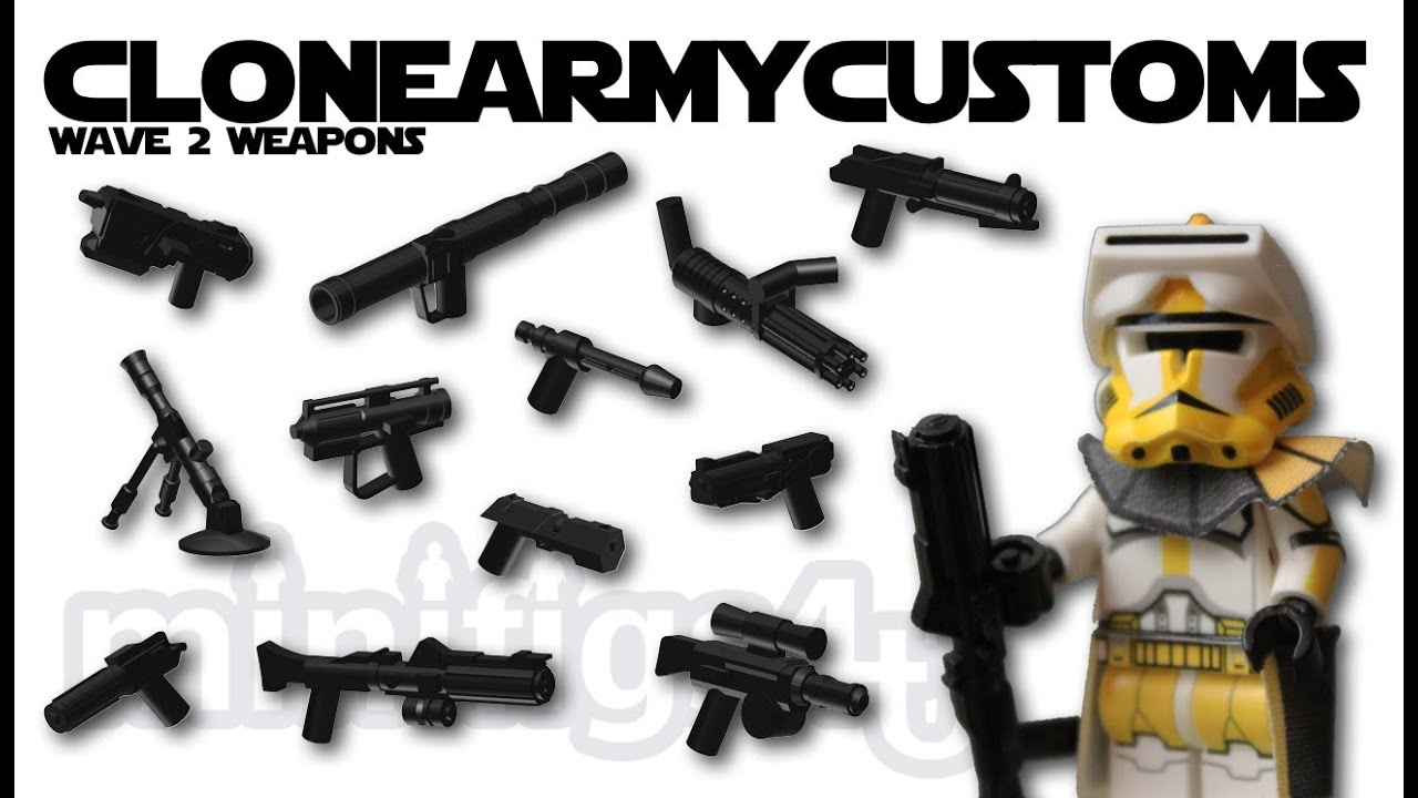 lego star wars clonearmycustom weapons wave 2 review - youtube
