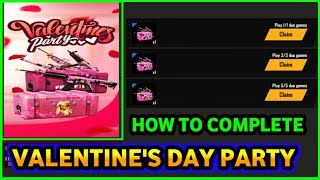 HOW TO COMPLETE VALENTINE'S PARTY EVENT FREE FIRE FULL DETAILS || PRG GAMERS
