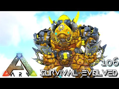 ARK: SURVIVAL EVOLVED - MYTH ROCK STAR TEK ROCK GOLEM E106 !!! ( ARK EXTINCTION CORE MODDED )