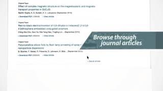 Journals - SpringerLink Tutorial