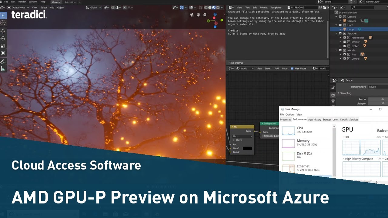 Amd Gpu P Preview On Microsoft Azure With Teradici Cloud Access Software Youtube