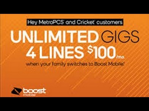 Boost Mobile Extends Its 4 Lines of the Unlimited GIGS Plan $100/month  Promotion