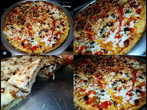 صورة  طريقة عمل البيتزا طريقة عمل بيتزا بالخضار والزنجر صغير كبير بحبها مع الشيف عبير طريقة عمل البيتزا من يوتيوب