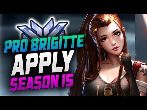 APPLY Pro Brigitte!! [ OVERWATCH SEASON 15 PLACEMENT GAME ]