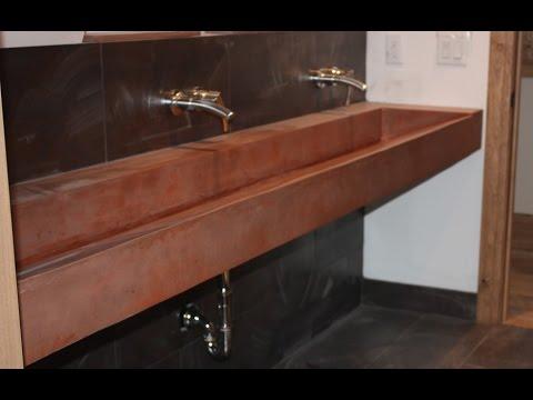 Adorable Concrete Trough Sinks Youtube