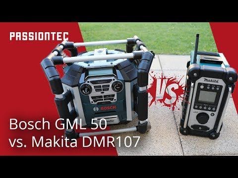 bosch gml 50 oder makita dmr107 baustellenradio. Black Bedroom Furniture Sets. Home Design Ideas