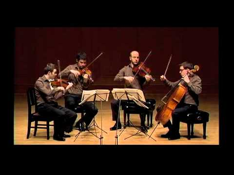Doric String Quartet plays Brahms String Quartet in C minor Op. 51 No. 1 (slow movement)