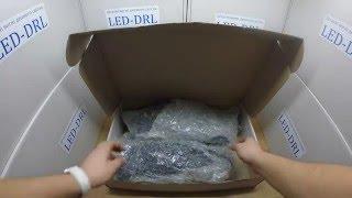 ПТФ с DRL для Hyundai Santa Fe 2013 V2 смотреть