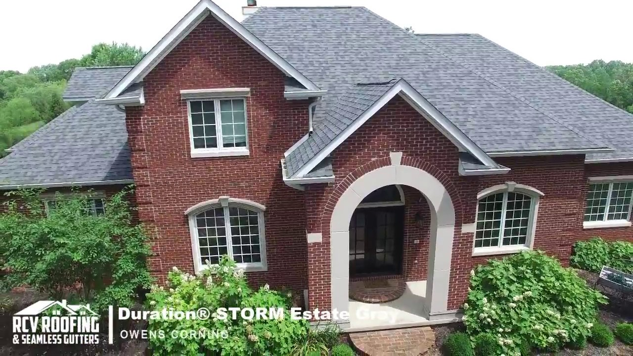 Aerial Drone Owens Corning Duration Storm Estate Gray