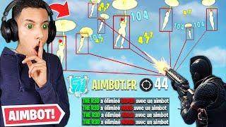 """J'ai joué avec un """"AIMBOT"""" sur Fortnite sans se faire """"BAN"""", c'est trop CHEATÉ... (no hack)"""