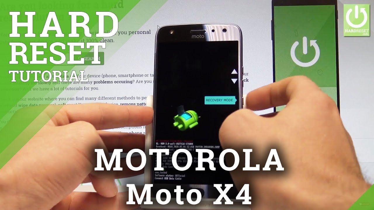 MOTOROLA Moto X4 HARD RESET / Bypass Screen Lock / Wipe Data