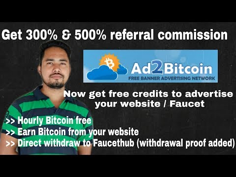 Ad2bitcoin website review: Hourly Faucet, Earn from website & Promote your website/faucet for free