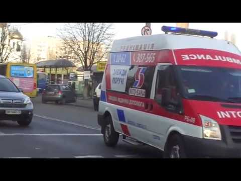 Ford Transit ambulance responding with siren