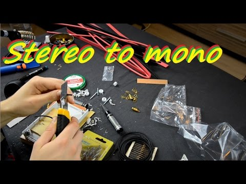 How To Make Stereo To Mono Analog Adapter Box Diy13 Youtube